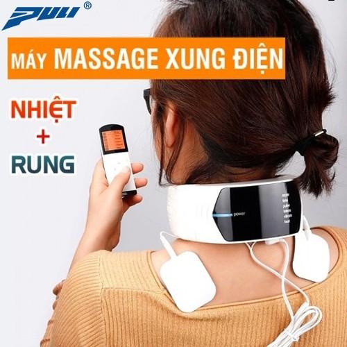 video máy massage cổ xung điện rung, nóng puli pl-758 - bí quyết giảm đau cổ mỏi thần kỳ