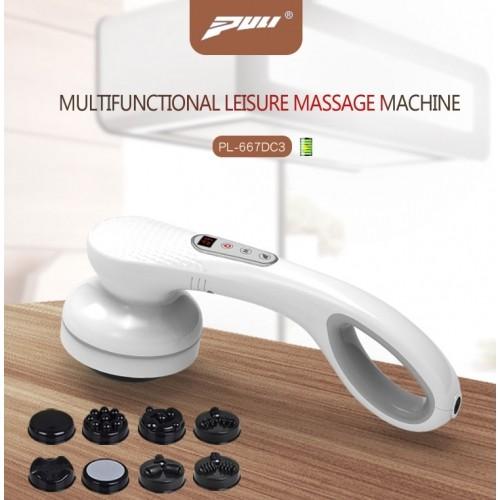 Video video máy massage cầm tay pin sạc 8 đầu puli pl-667dc3 - giải tỏa mệt mỏi, thư giản cơ thể