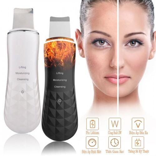 Video máy sủi da điện di đẩy mụn và tẩy tế bào chết có nhiệt spatula comedones extractor - giải pháp làm sạch da tại nhà